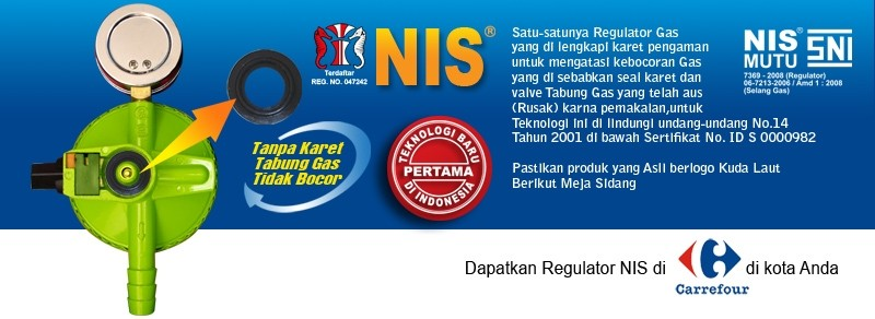 regulator gas nis dapat beli di carrefour